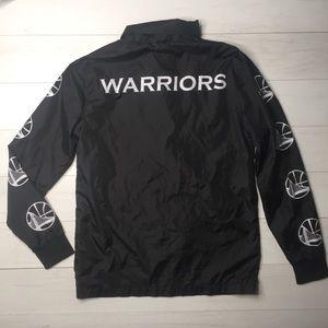 Warriors NBA UNK Coach Windbreaker Jacket Black